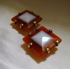 Antique Agate Cuff Links: Cufflinks, Sardonyx Cufflinks, Faceted Agate, Victorian ca 1850s by SilverFoxAntiques on Etsy