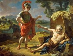 Diogenes of Sinope 412 - 322BC. You might wanna' specify a dress code as this chap has a proclivity for flashing a bit too much flesh.....