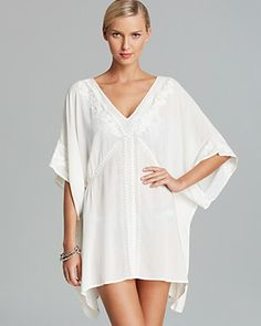 Nanette Lepore Deja Blue Cover Up Caftan | Bloomingdale's