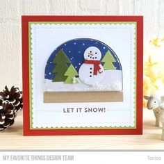"102 Likes, 4 Comments - Yoshie Nakagaki (@torico27) on Instagram: ""It's Day 1 of the MFT September Card Kit Countdown! You can make adorable Snow Globe shaker cards…"""