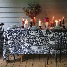 Harvest Navy Tablecloths   Unison
