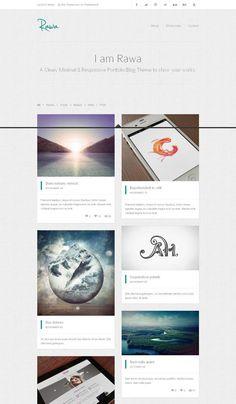 RAWA - A responsive & minimal html template - Home