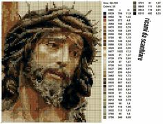 Cross Stitch Tutorial, Cross Stitch Art, Cross Stitch Designs, Cross Stitching, Cross Stitch Embroidery, Cross Patterns, Hand Embroidery Patterns, Counted Cross Stitch Patterns, Religious Cross