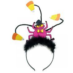 Haarreif Spinne mit Hut