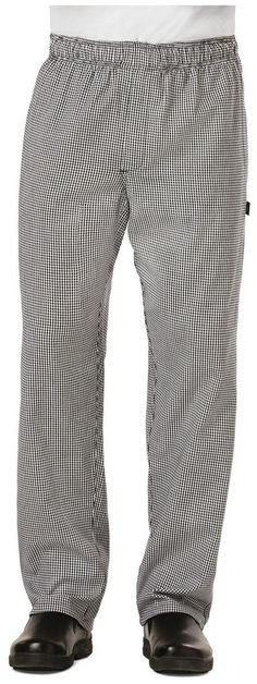 Dickies baggy chef pant, with elastic waist & zip fly Style: DC14 in Houndstooth