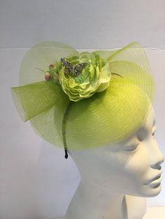 63cc4abbfa0 Lime Fascinator- Green Derby -Floral Headpiece- Kentucky Derby- Polo Match-  Rose Fascinator -Flower Fascinator- Wedding