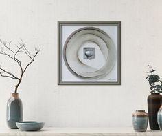 String Art 3D Framed Art Abstract Wall Art Beautiful Zen | Etsy