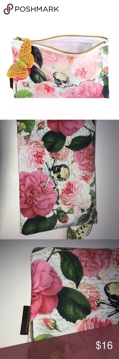 Tokyo Milk Cosmetic Bag - Skull w/ Roses NEW Smoke free pet free home! Fast ship!  9x6  New without tags tokyo milk Bags Cosmetic Bags & Cases