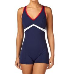"NEW Zoggs Women's Noosa Legsuit Swimming Costume Size 14/38"" NAVY #ZOOGS"
