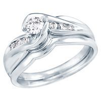 14kt White Gold 1/4ct TW Round Diamond Bridal Set  Helzberg Diamond Symphonies®, Beethoven Collection