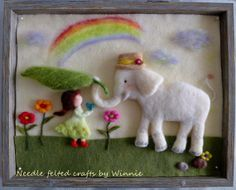 Needle felted 3D picture A true caring friend by FunFeltByWinnie, $148.00