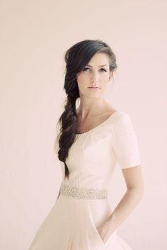 photo of Romantic DIY Wedding Hairstyle- the Fishtail Braid