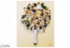 Gisela - Αποξήρανση ανθοδέσμης Wedding Bouquets, Wedding Brooch Bouquets, Bridal Bouquets, Wedding Bouquet, Wedding Flowers