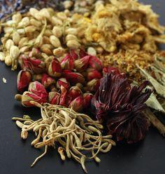 Guide to Flower Herbal Teas by SeasonWithSpice.com