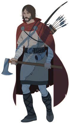 Rook, from The Banner Saga -- character design by Arnie Jorgensen
