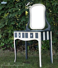 The best way to storage them is the makeup vanity that not. Hand Painted Furniture, Upcycled Furniture, Diy Makeup Vanity, Colorista, Beautiful Hands, Diys, Black And White, Outdoor Decor, Dressers