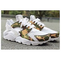 Camouflage Nike Air Huarache Customs Camo Nike Huarache Unisex Camo... ($200) ❤ liked on Polyvore featuring shoes, grey, sneakers & athletic shoes, tie sneakers, unisex adult shoes, water proof shoes, waterproof footwear, gray shoes, waterproof shoes and unisex shoes