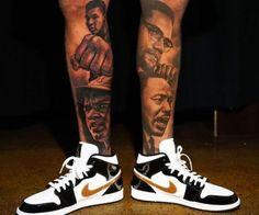 Black history tattoo style 41 ideas for 2020 Black Men Tattoos, Black People Tattoos, Full Leg Tattoos, Body Tattoos, Tattoos For Guys, Side Hand Tattoos, Calf Sleeve Tattoo, Portrait Tattoo Sleeve, Leg Tattoo Men