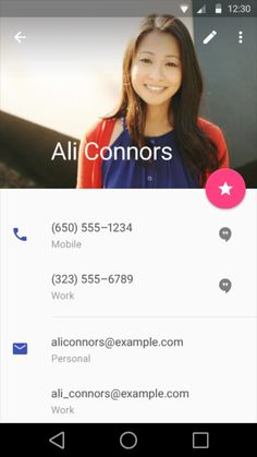 Google Material Design: Contact / ?