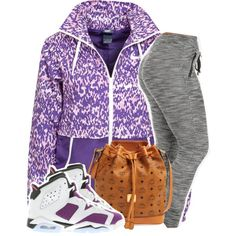 A fashion look from January 2015 featuring NIKE jackets, NIKE athletic shoes and MCM shoulder bags. Browse and shop related looks.