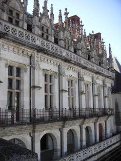 Château d'Amboise (Indre et Loire) - façade Renaissance - côté Loire