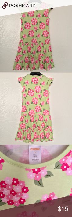 NWOT Gymboree Floral Print Girls Dress Size 7 NWOT Gymboree Green and Pink Floral Print Short Sleeve Girls Dress Size 7   Reasonable offers welcome! 20% off bundles! No returns or trades please! Smoke- & pet-free home Gymboree Dresses Casual