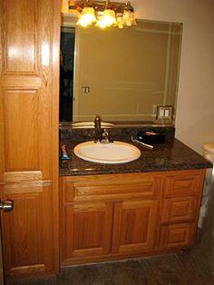 Bathroom Vanities With Tower Storage Custom Pine Bathroom Vanities With Storage Tower For