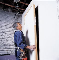 Tom Silva does a plumb job putting up a prehung door Prehung Interior Doors, Prehung Doors, Carpentry Skills, Phillips Screwdriver, Drill Driver, Old Houses, Plumbing, Remodeling, Building