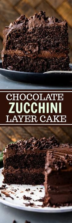 Super rich and fudgy chocolate cake with chocolate chip and chocolate fudge frosting! The best zucchini cake! Recipe on sallysbakingaddiction.com