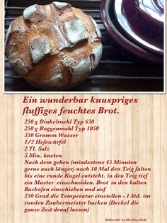Bake bread yourself . - Bake bread yourself … - # Whole Food Recipes, Baking Recipes, German Bread, Vegan Protein Bars, Pampered Chef, Vegetarian Breakfast Recipes, Special Recipes, Bread Baking, Pain