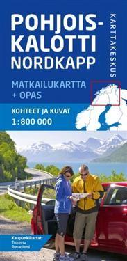 Pohjoiskalotti Nordkapp Matkailukartta Opas 1 800 000 Lomalle
