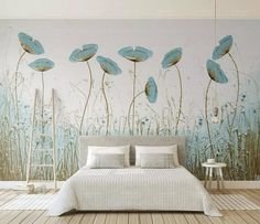 Oil Paint Blue Poppy Flower Textile Wallpaper Oil Paint Floral Wall Art Wall Murals for Living Room Bedroom Luxury Room Cafe Decor This self adhesive,. Bedroom Murals, Living Room Bedroom, Wall Murals, Living Room Decor, Geometric Wallpaper Neutral, Wall Wallpaper, Wallpaper Size, Dandelion Wallpaper, Painting Wallpaper