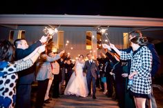 The sparkling exit! ::Ashley + Daniel's striking fall wedding at the Roswell River Landing in Georgia:: #weddingphotography #photography #roswellwedding #reception #truelove