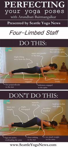 The Four Limbed staff yoga pose! Ready to perfect this asana? Tags: yoga, yogi, infographic, yoga pose, yoga poses, asana, asanas, four limbed staff