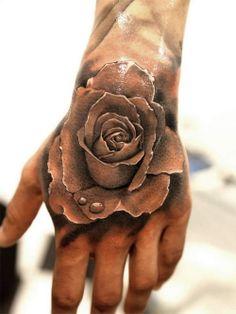 unbelievable 3d rose hand tattoo designs Tribal Hand Tattoo Designs