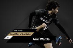 Ο Αμρ Ουάρντα αναδείχθηκε, από τους χρήστες του paokfc.gr και του PAOK FC Official App, ως ο Fans' Man of the Match της αναμέτρησης κόντρα στην Βέροια στο γήπεδο της Τούμπας για την 21η αγωνιστική της Super League.