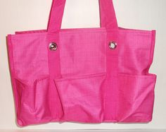 New Thirty One Gifts Organizing Utility Tote Pink Cross Pop | eBay