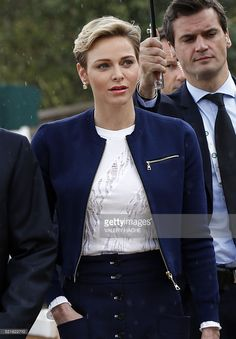 Princess Charlene of Monaco arrives to attend the Monte-Carlo ATP Masters Series Tournament final tennis match between Spain and France, on April 17, 2016 in Monaco.