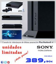 Más allá de los límites del juegoConsola de videojuegos de última generación PlayStation® 4  Unidades limitadas !!! Date prisa !!!