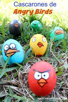 Como pintar Cascarones de huevo de Angry Birds