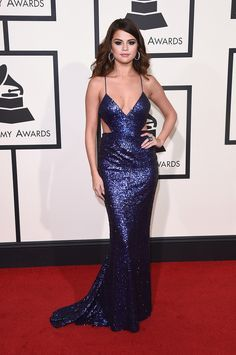 Selena Gomez at the #GRAMMYs 2016