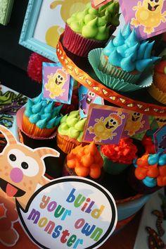 Kara's Party Ideas Colorful Monster Bash Party | Kara's Party Ideas