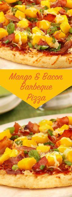 Mango & Bacon Barbecue Pizza