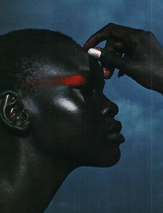 saindoux:  Alek Wek photographed by Raymond Meier for Harpers Bazaar, November 1998
