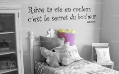 Stickers on pinterest stickers citation amour and bonheur - Phrase stickers muraux ...