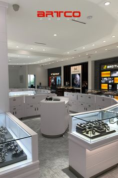 "Manufacture & Design of Store Fixtures by Artco Group. ""The only way to do great work is to love what you do"" #RetailDesign #Jewelrystore Jewelry Store Design, Jewelry Stores, Store Fixtures, Retail Design, Group, Home Decor, Decoration Home, Room Decor, Interior Decorating"