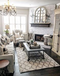 Amazing Living Room Design Ideas With Corner Fireplace That You Will Like - MagzHome Living Room With Fireplace, Home Living Room, Living Room Designs, Living Room Furniture, Room Corner, Living Room Inspiration, Interior Inspiration, Great Rooms, Family Room