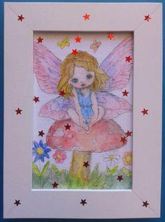 018 Acquerello su cartoncino intelato; cm 15 x 10 senza cornice; cm 18,5 x 13,5 con cornice decorata con stelline rosse https://www.ebay.it/usr/camerapicta