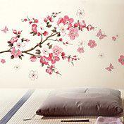 Flores da borboleta parede adesivo removível – BRL R$ 31,72