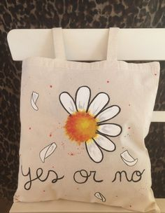 hand painted tote bag. cotton tote bag. design by myladiesandme